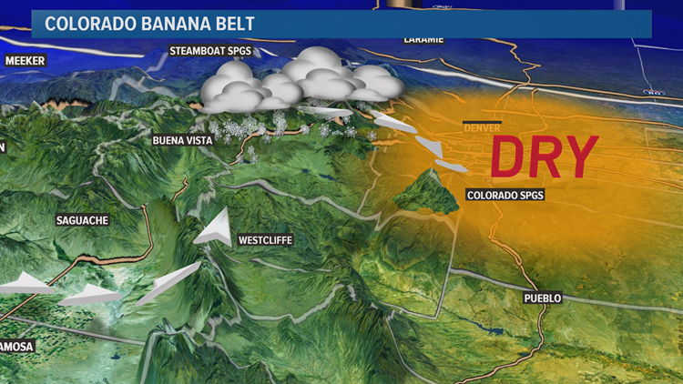 Does Colorado Have A Banana Belt 9newscom - Us-snow-belt-map