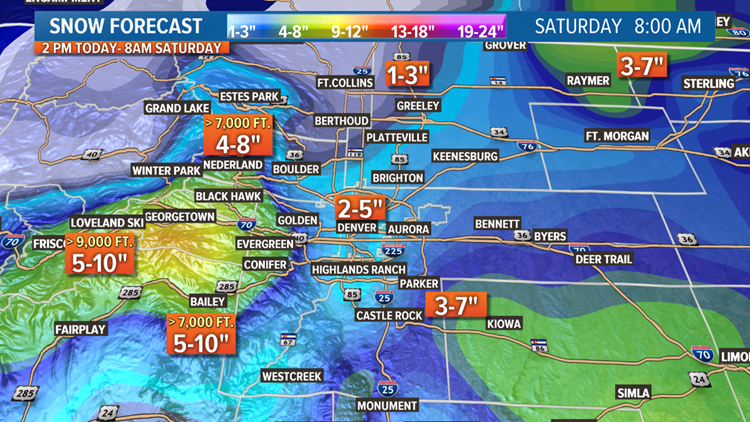 Snow Forecast through Saturday, February 23
