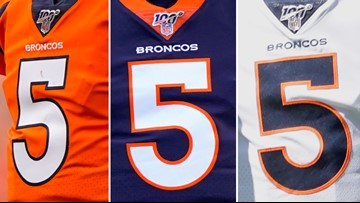 Here are the jerseys the Broncos will be wearing this season