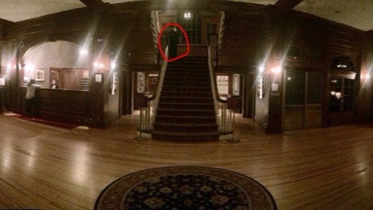 A ghostly figure was spotted at the Stanley Hotel