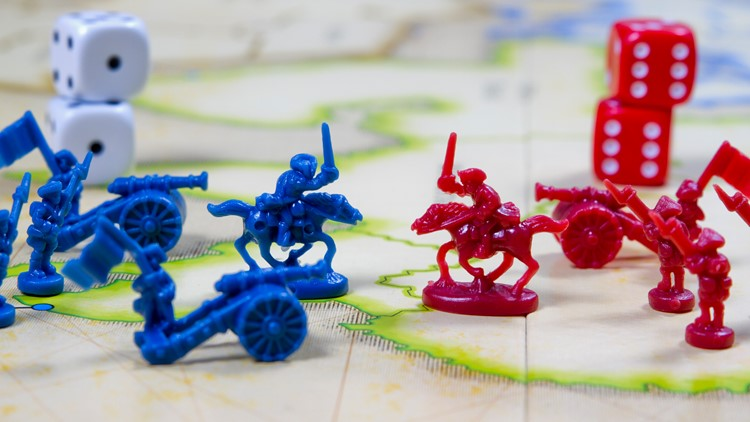 Conflict Between Two Colours On War Field board games generic