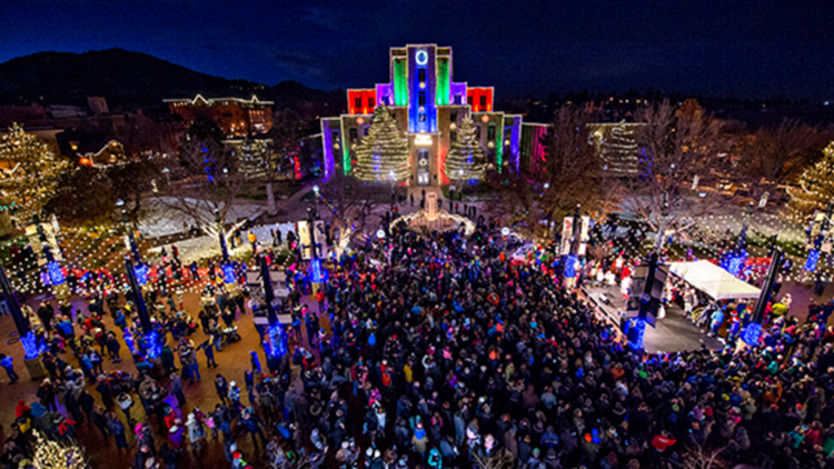 Switch on the Holidays downtown Boulder pearl street christmas