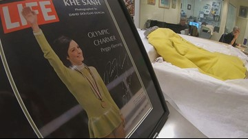 Dress worn by Olympic gold medalist figure skater to be showcased at Colorado museum