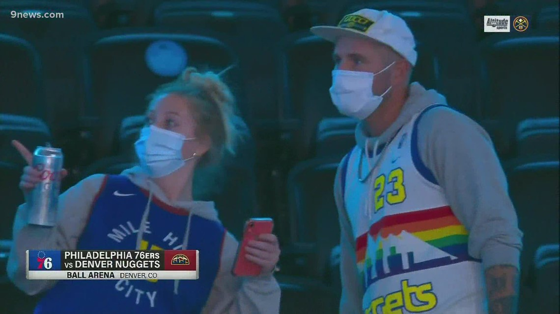 Crowd returns to Ball Arena to cheer on Nuggets for first time in more than a year