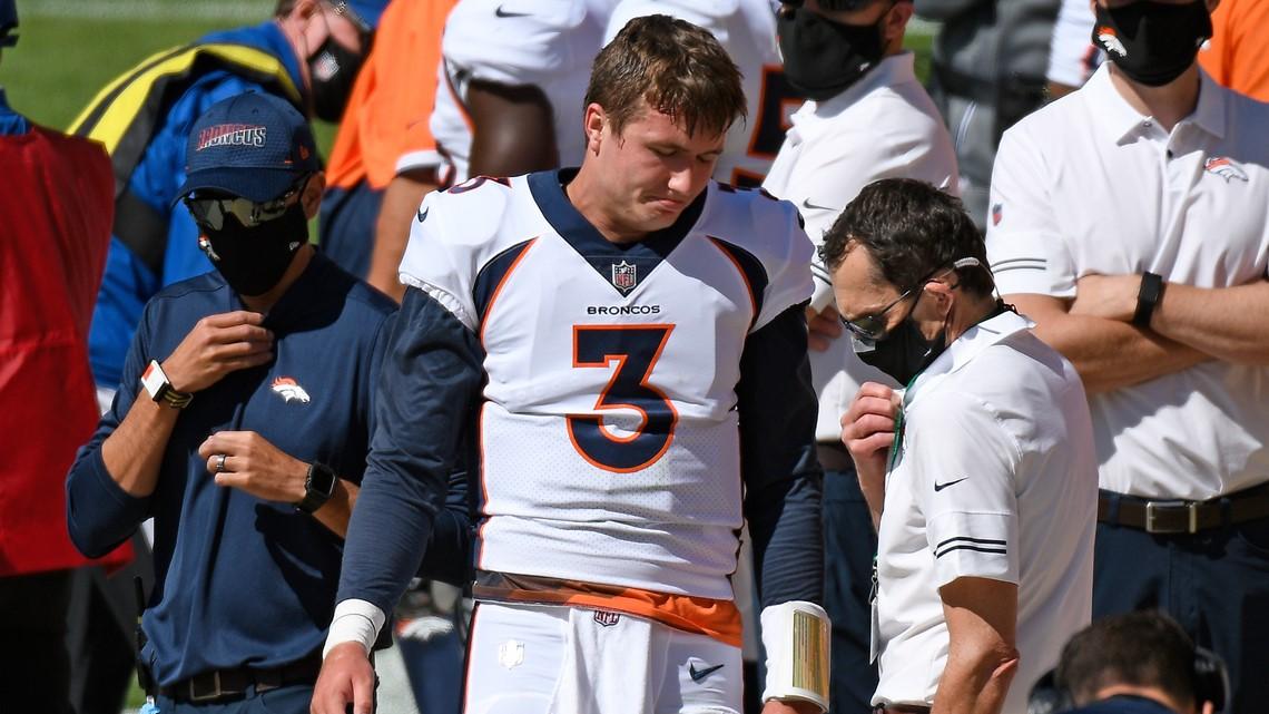 Broncos lose Lock to shoulder injury, trail Steelers, 17-3 at halftime