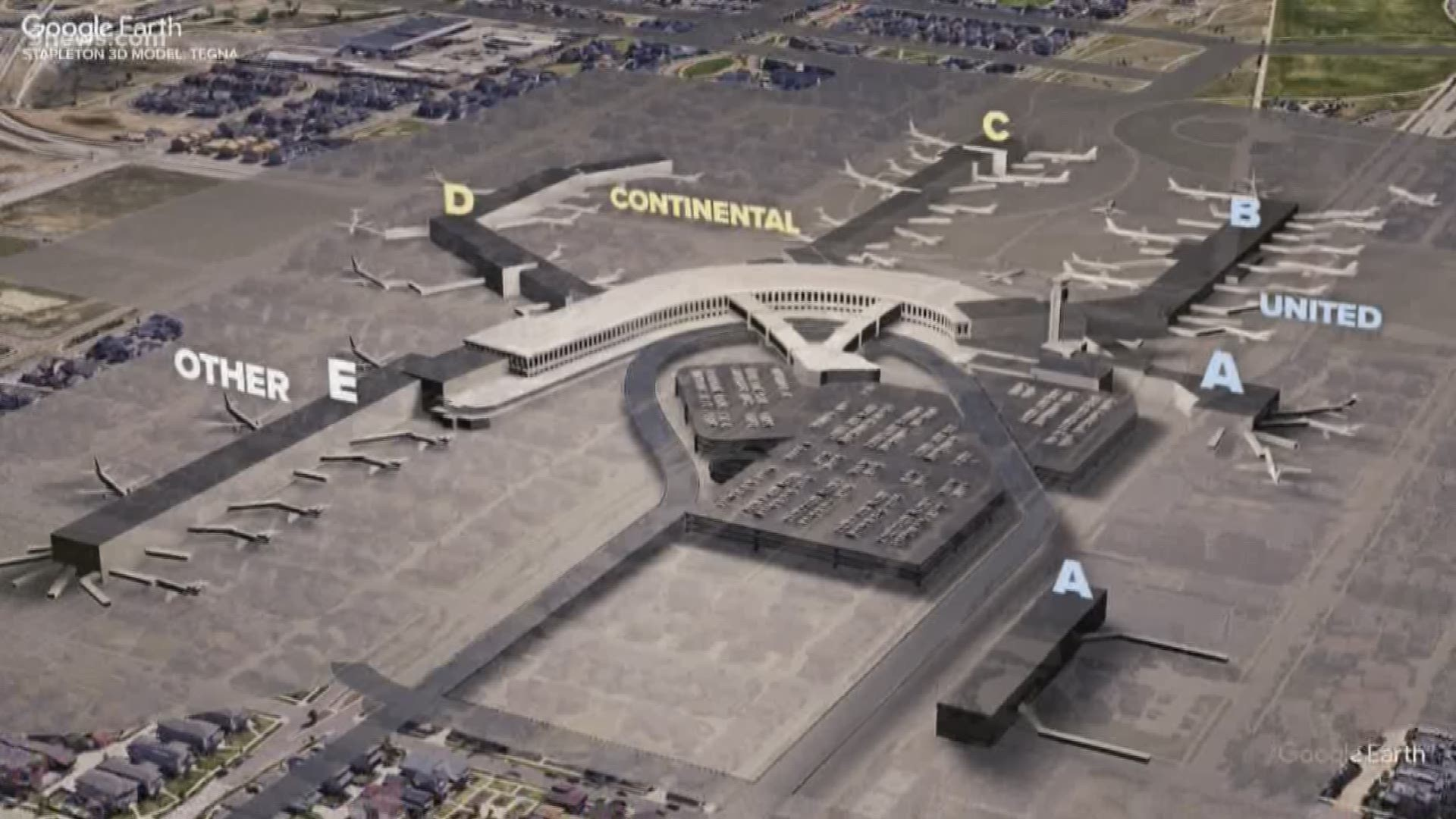 Take A Virtual Tour Of The Old Stapleton Airport In Denver 9news Com
