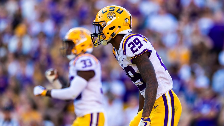 Georgia LSU Football Greedy Williams