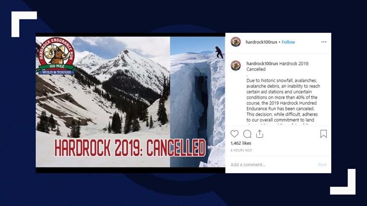 Hardrock 100 canceled due to record snowfall, avalanche