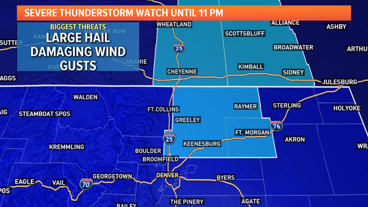 Severe Thunderstorm Watch for northern Colorado