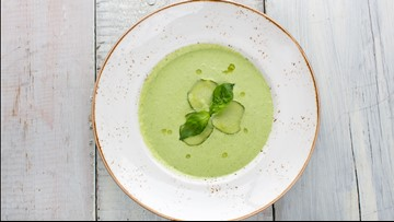 Just a blender needed for chilled Cucumber Gazpacho