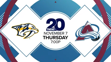 Tonight's Colorado Avalanche game to air on Ch. 20