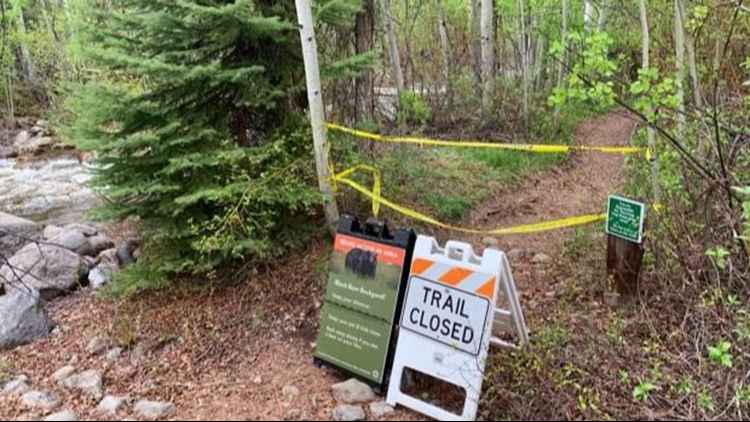 trail closure after bear bites woman