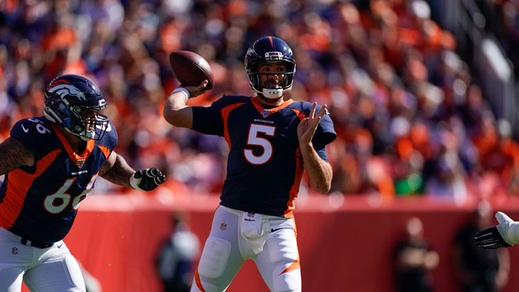 Titans Broncos Football Joe Flacco Dalton Risner