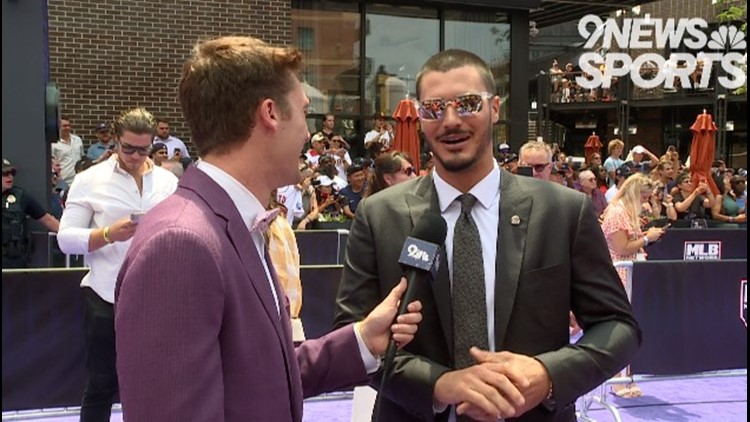 MLB players walk the red (purple) carpet to All-Star Game