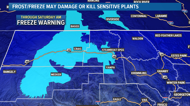 Freeze Warning in NW Colorado