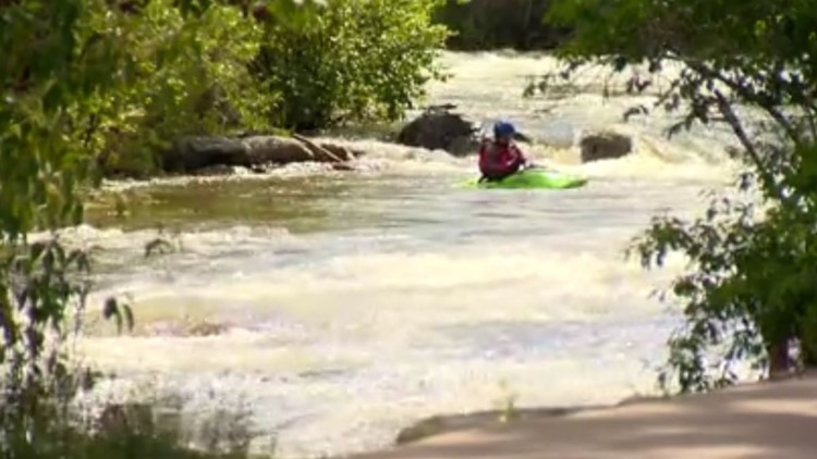 Golden implements flag system to represent safety levels on Clear Creek