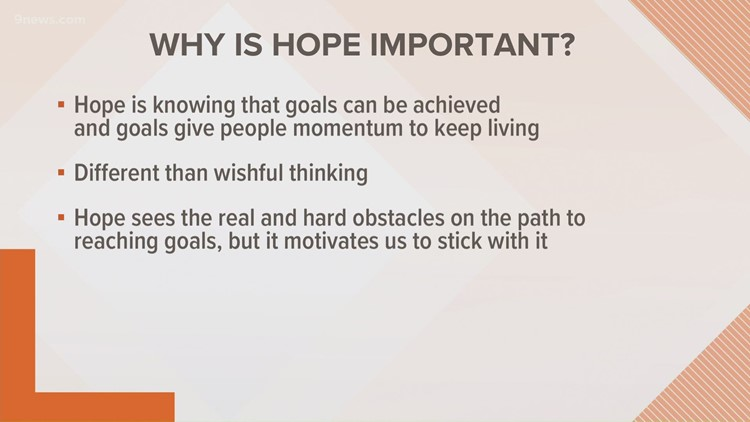 The importance of creating hope in your life