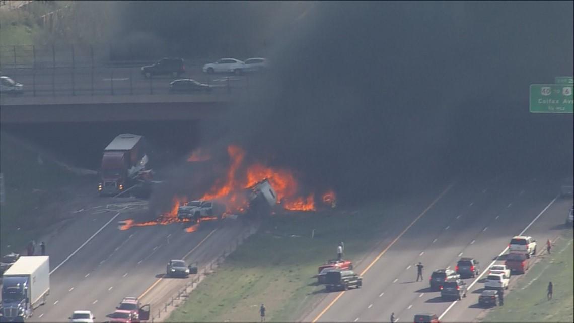Semis, vehicles on fire on I-70 near Colorado Mills | 9news com