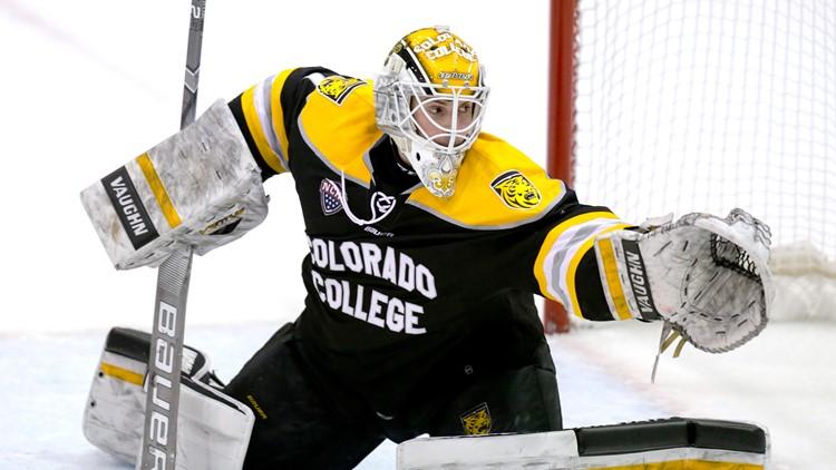 Colorado College's Alex Laclerc NCAA hockey