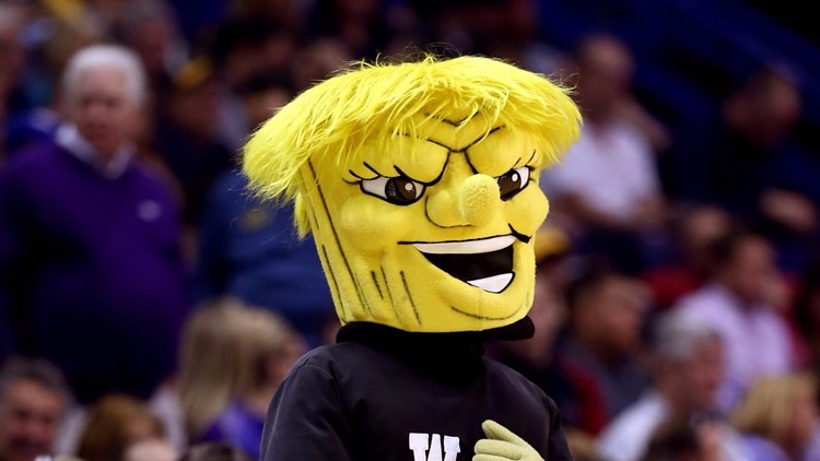 The Wichita State Shockers mascot, WuShock (Photo by Andy Lyons/Getty Images)