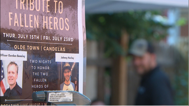 Fundraiser held in Arvada for families of Officer Gordon Beesley and Johnny Hurley