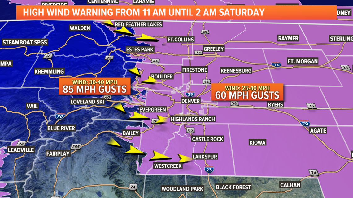 Extreme wind with gusts up to 60 mph on Friday