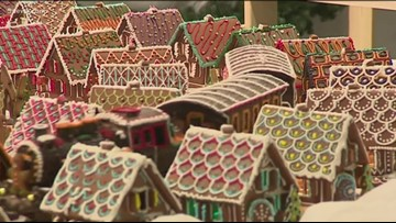Have you ever seen a gingerbread town this big?