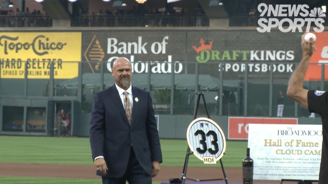 Rockies officially retire Larry Walker's No. 33 in festive pregame ceremony