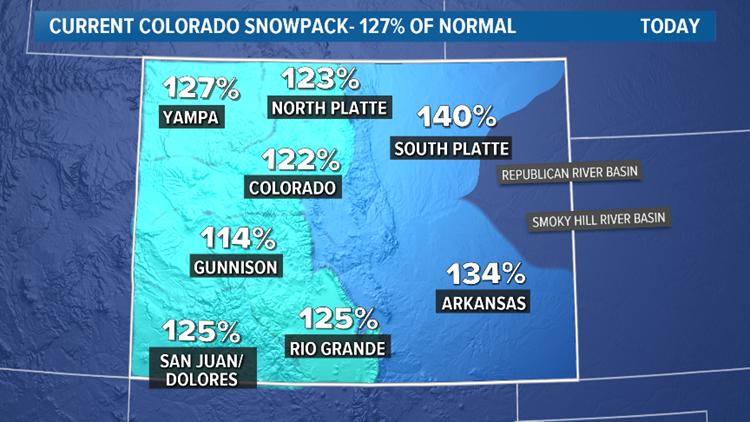 Snowpack map