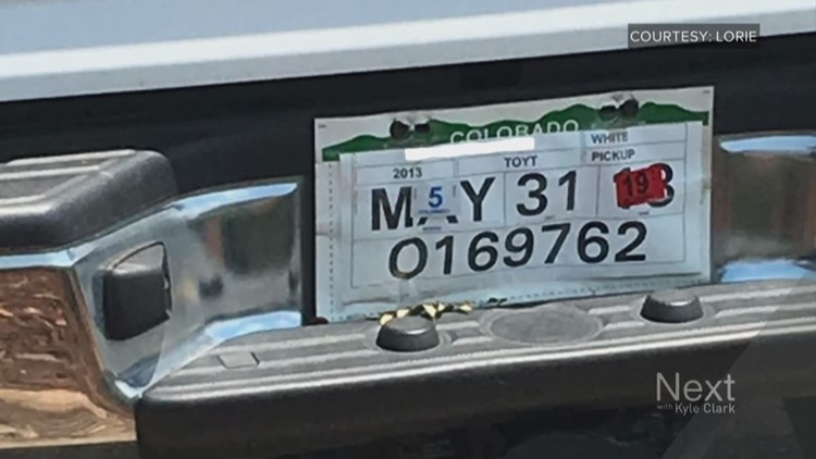 This license plate on the back of this car is bonkers