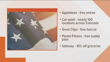 Veterans Day deals and discounts around Colorado