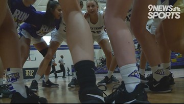 Holy Family girls hoops takes down Berthoud