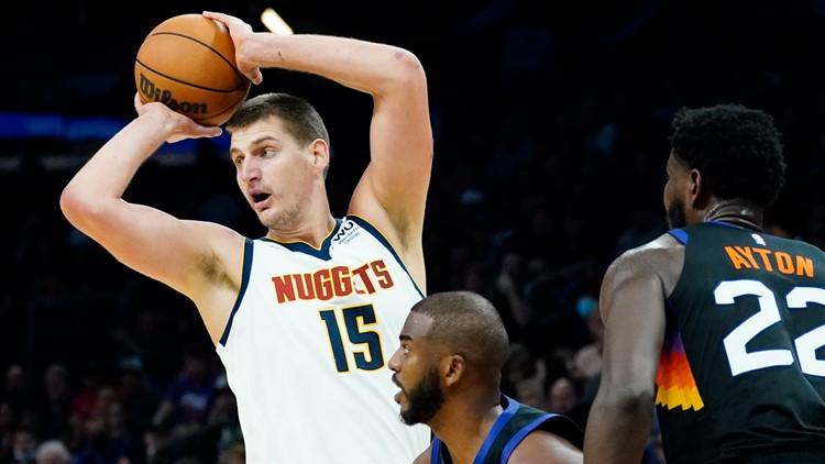 Nikola Jokic scores 27 points, Nuggets beat Suns 110-98