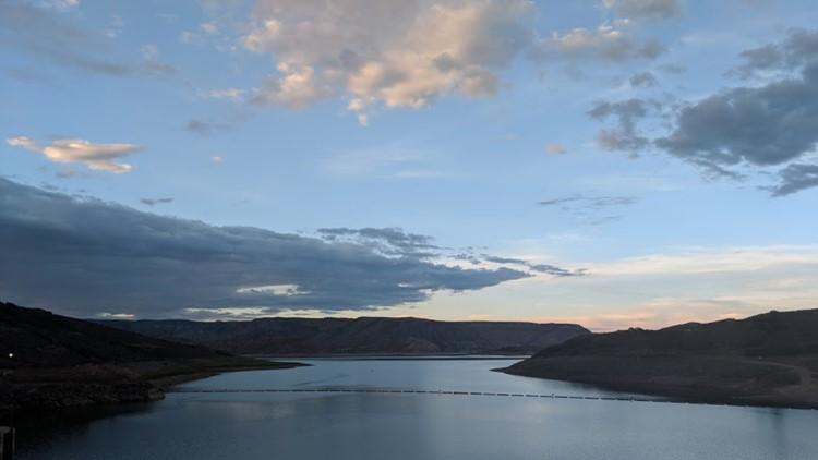 Blue Mesa Reservoir at sunset