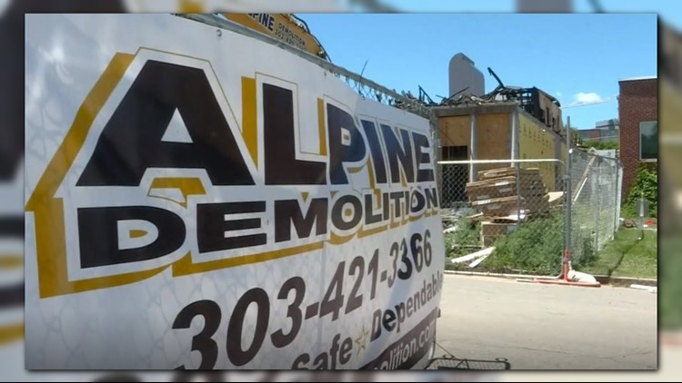 Alpine Demolition is cleaning up the construction site following a fire that occurred there in March.