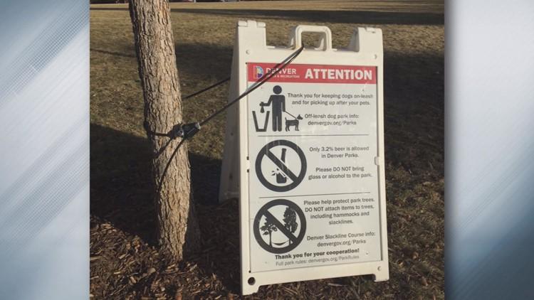 Confused sign in Denver parks