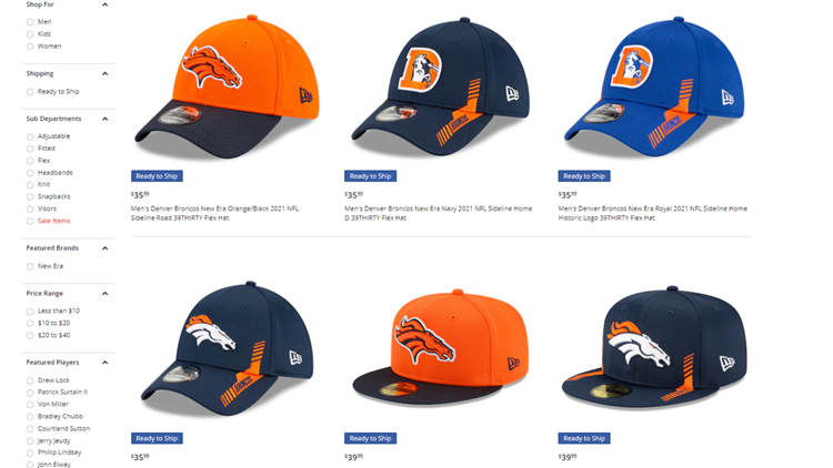 Broncos' official 2021 sideline caps are here