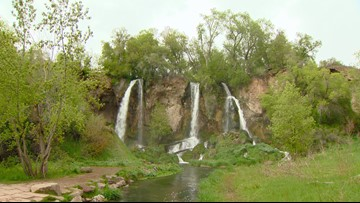 Tranquil beauty of Colorado's Rifle Falls State Park
