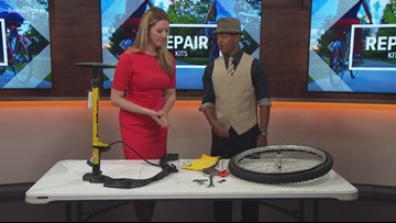 You can check out bicycle repair kits from any Denver Public library branch