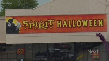 Why some empty retail spaces are already getting in costume for Halloween