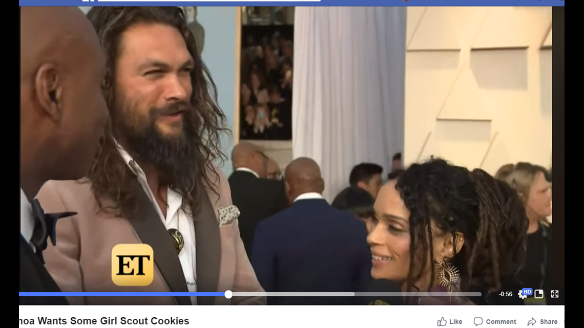 Jason Momoa Comments On The Momoa Samoas Sold By Colorado Girl Scout