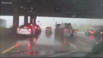 Don't listen to E-470's advice to park underneath overpasses during a hail storm