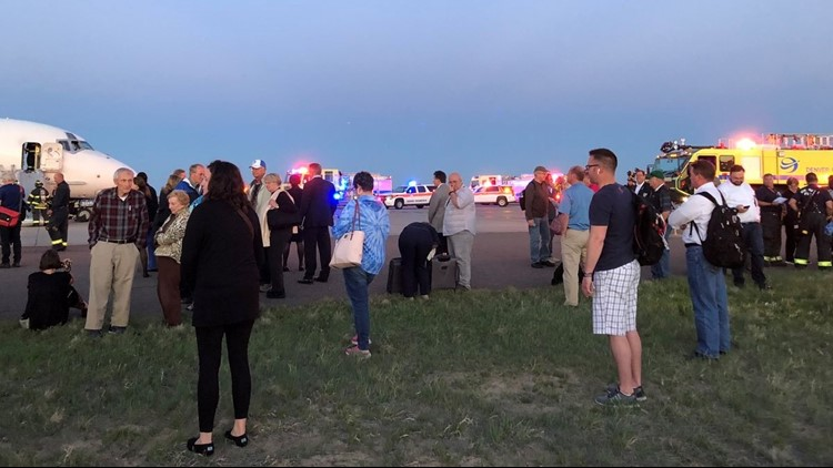 A look at the passengers off the plane at DIA after a Delta flight was reportedly evacuated. (Photo: Rachel Naftel)