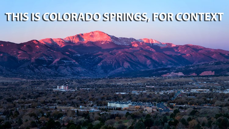 A stock photo of Colorado Springs, for context.