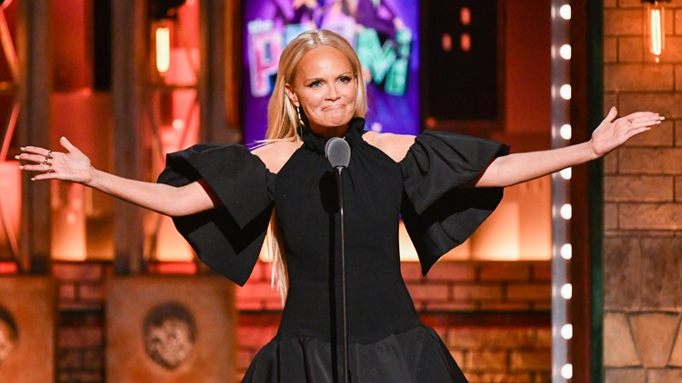 Kristin Chenoweth speaks at the 73rd annual Tony Awards
