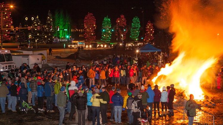 Spontaneous Combustion bonfire  Celebration  Frisco, Colorado