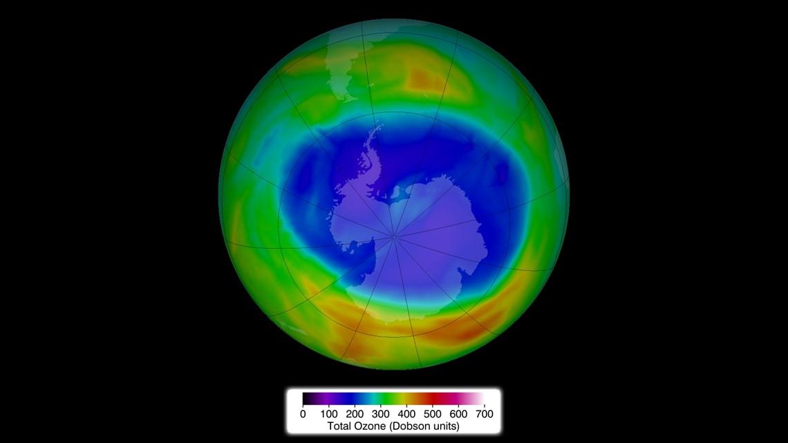 Ozone hole repairing itself thanks to 1985 'Montreal Protocol'