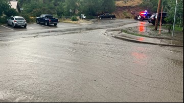 Flash flooding leads to evacuation warning for Lake Christine burn scar area