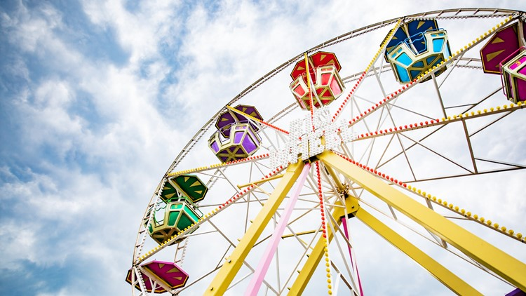 Summer Carnival Tilt-a-while amusement park ride festival ferris wheel