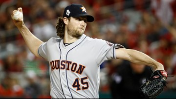 Cole pitches Astros to 3-2 World Series lead over Nats